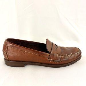 Cole Haan Sz 9.5N Brown Penny Loafers